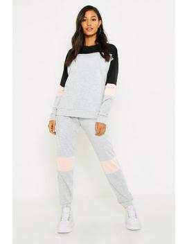 Contrast Stripe Lounge Set by Boohoo