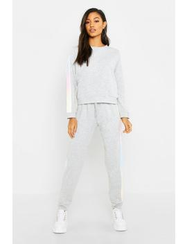 Ombre Stripe Lounge Set by Boohoo