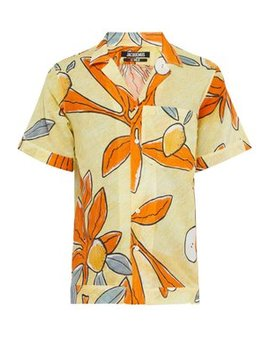 Leaves Print Cotton Shirt by Jacquemus