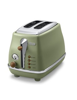 De Longhi Pop Up Toaster「Icona Vintage Collection」Ctov2003 J Gr (Olive Green)【Japan Domestic Genuine Products】 by De Longhi