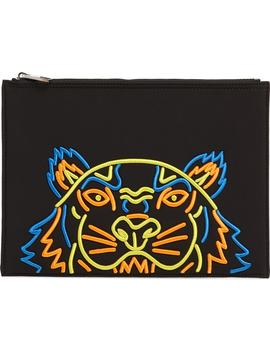 Embroidered Zip Pouch by Kenzo