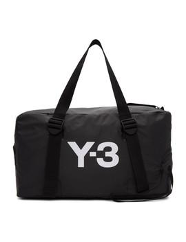 Black Bungee Gym Bag by Y 3