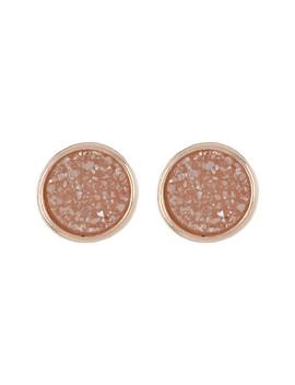 Circle Disco Drusy Stud Earrings by Panacea