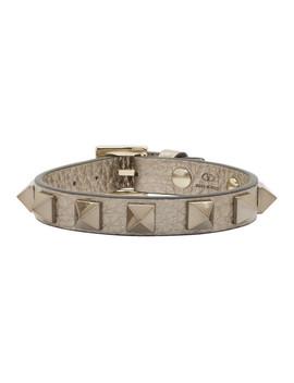 Silver Valentino Garavani Rockstud Bracelet by Valentino