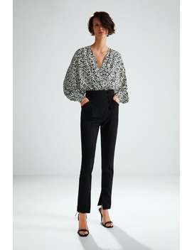 Limited Edition Trousers With Buttons  Trouserswoman by Zara