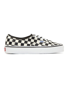Black & Off White Checkerboard Authentic Sneakers by Vans