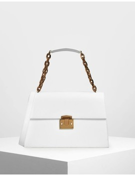 Chain Strap Shoulder Bag by Charles & Keith
