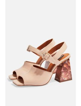 Rose Marble Heeled Sandals by Topshop