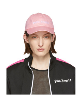 Pink Classic Logo Cap by Palm Angels