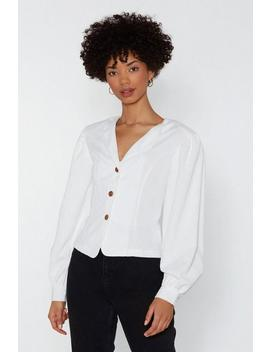 Prince Charming Corduroy Puff Sleeve Shirt by Nasty Gal