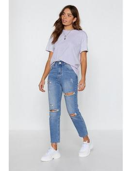 Light Wash Cropped Straight Leg Jean by Nasty Gal