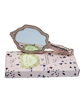 Baby Price Vintage Hand Mirror With Handle   Princess Portable Small Handheld Floral Embossed Mirror by Baby Price