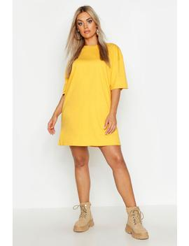 Plus Super Oversized Drop Armhole T Shirt Dress by Boohoo