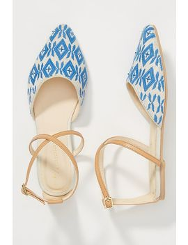 Anthropologie Laurie Strappy Flats by Anthropologie