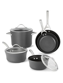 Calphalon 1876784 Contemporary Hard Anodized Aluminum Nonstick Cookware, Set, 8 Piece, Black by Calphalon