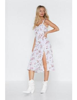 Knowledge Is Flower Floral Midi Dress by Nasty Gal