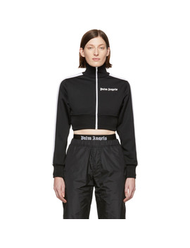 Black Cropped Track Jacket by Palm Angels