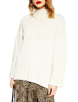 Oversize Longline Sweater by Topshop