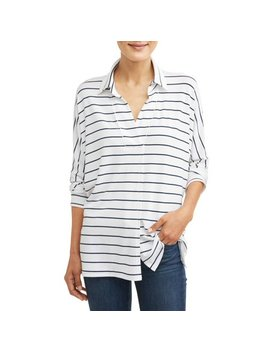 Women's Soft Knit Popover Top by Time And Tru