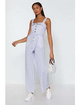 My Stripe Of Vacay Wide Leg Jumpsuit by Nasty Gal