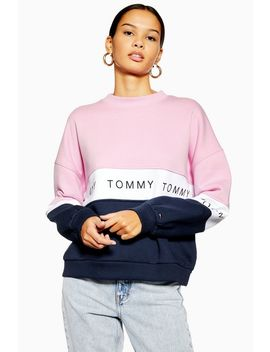 Colour Block Sweatshirt By Tommy Hilfiger by Topshop