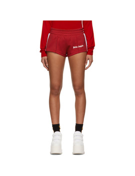 Red Track Shorts by Palm Angels