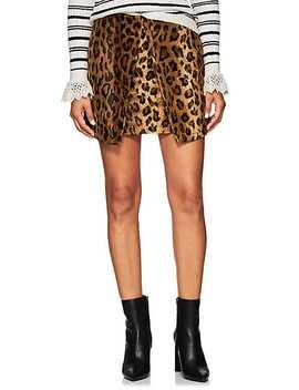 Leopard Print Velvet Miniskirt by Philosophy Di Lorenzo Serafini