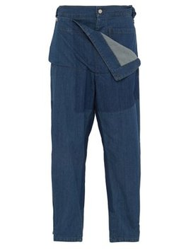 High Rise Folded Front Denim Jeans by Jw Anderson