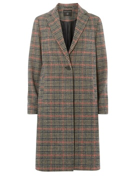 Multi Colour Checked Coat by Dorothy Perkins