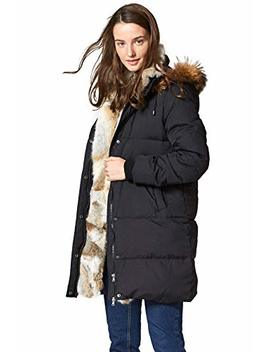 Escalier Women's Down Coat With Real Raccoon Fur Hooded Parka Jacket by Escalier