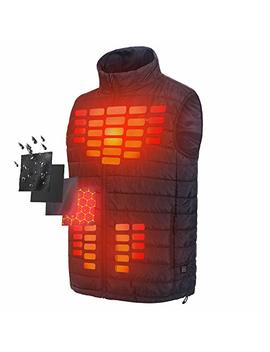 Firefox Heated Vest Men Heated Jacket Long Clothing Lightweight Warm Down Vest Hunting Lights Battery by Firefox