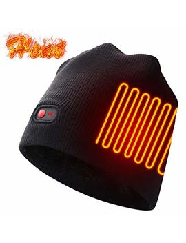 Autocastle Rechargeable Electric Warm Heated Hat Winter Battery Skull Beanie,Black,3 Heat by Autocastle