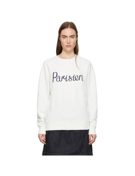Off White 'parisien' Sweatshirt by Maison KitsunÉ