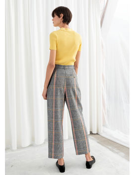 Linen Blend Plaid Pants by & Other Stories