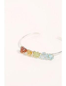Raw Rainbow Stone Cuff Bracelet by Free People