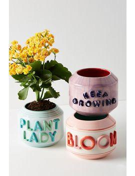 Garden Greeting Pot by Anthropologie