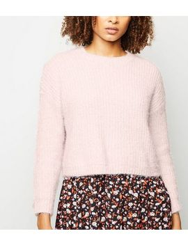 Pink Fluffy Chenille Jumper by New Look