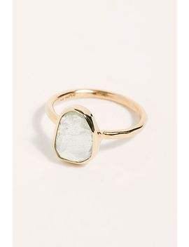 Aquamarine Solitare Ring by Free People