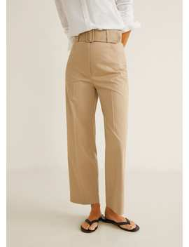 Pantalon Cropped Taille Haute by Mango