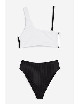 Black And White Bikini Set by Topshop