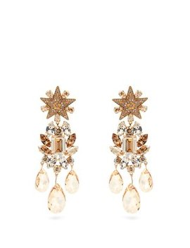 Crystal Embellished Star Clip On Earrings by Dolce & Gabbana