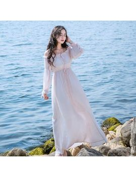 Nebbia   Long Sleeve Off Shoulder Maxi Dress by Nebbia