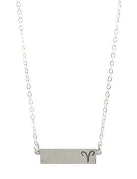 Sterling Silver Aries Zodiac Necklace by Dogeared