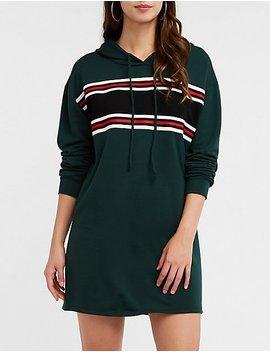 Sporty Striped Sweatshirt Dress by Charlotte Russe
