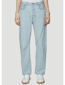 Blå Konst Land Loose Fit Jeans In Light Blue by Acne Studios