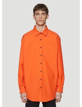 Atlent Twill Shirt In Orange by Acne Studios