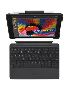 Slim Combo Keyboard Folio Case For Apple® I Pad&#174 by Logitech
