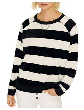 La Brea Velour Stripe Pullover by Sanctuary