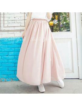 Jinyo   Chiffon A Line Maxi Skirt by Jinyo
