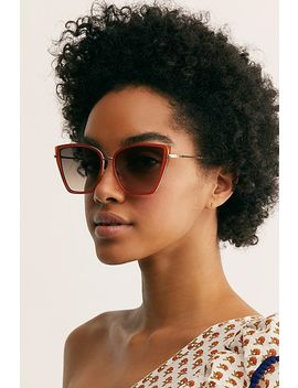 Lucy Oversized Cat Eye Sunglasses by Free People